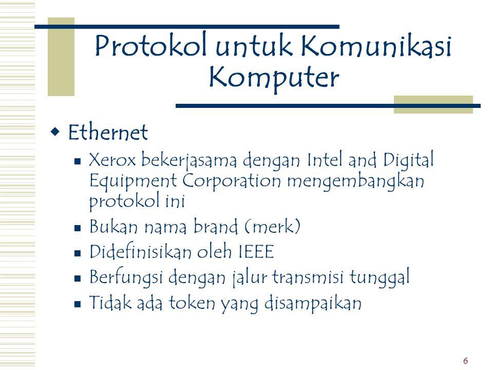 Protokol untuk Komunikasi Komputer