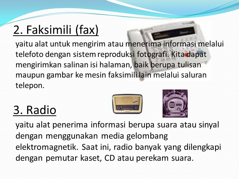 2. Faksimili (fax)