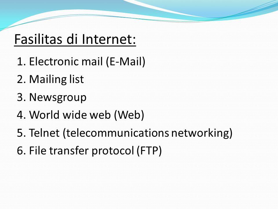 Fasilitas di Internet: