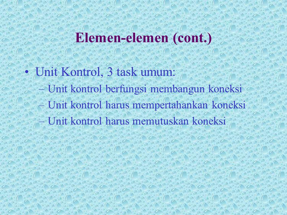 Elemen-elemen (cont.) Unit Kontrol, 3 task umum: