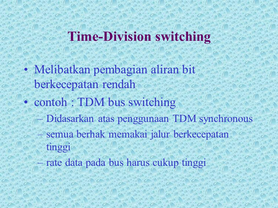 Time-Division switching