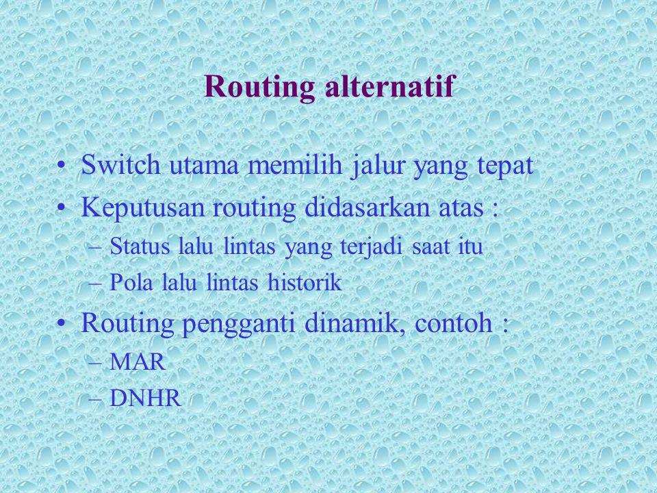 Routing alternatif Switch utama memilih jalur yang tepat
