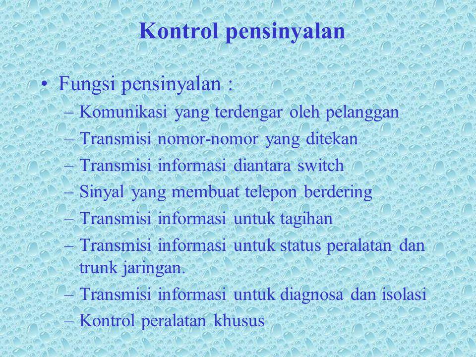 Kontrol pensinyalan Fungsi pensinyalan :