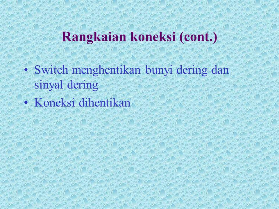 Rangkaian koneksi (cont.)