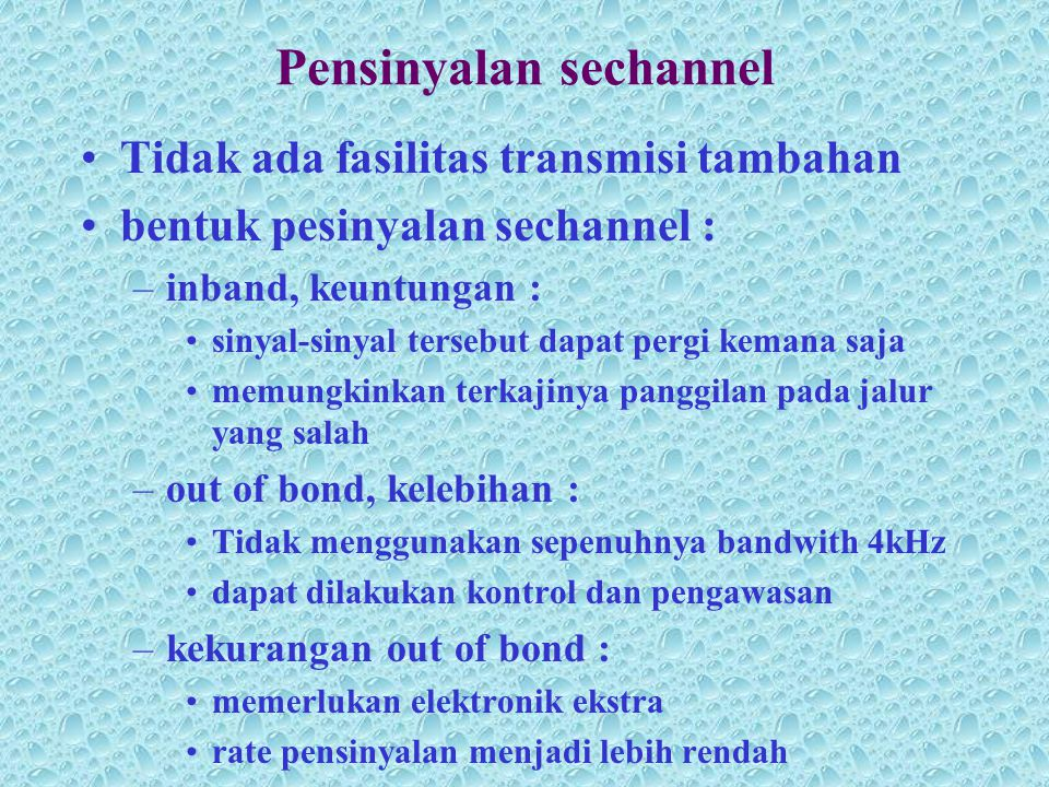 Pensinyalan sechannel