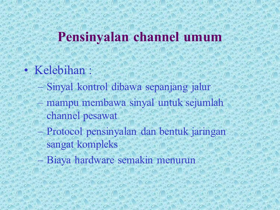 Pensinyalan channel umum