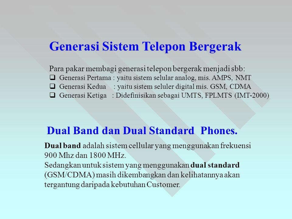 Generasi Sistem Telepon Bergerak