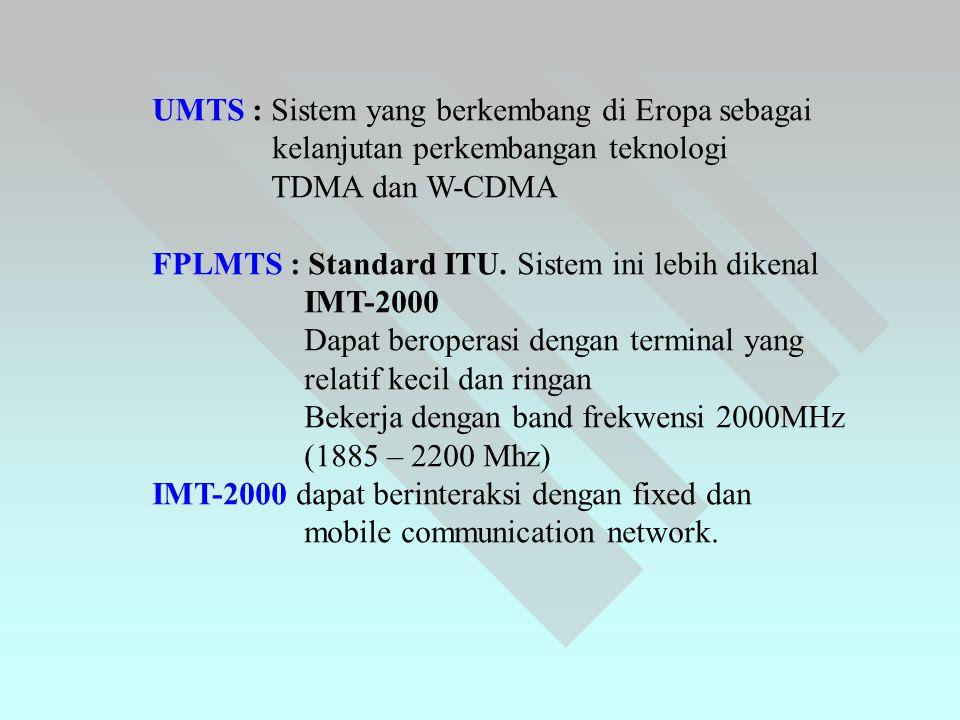 UMTS : Sistem yang berkembang di Eropa sebagai