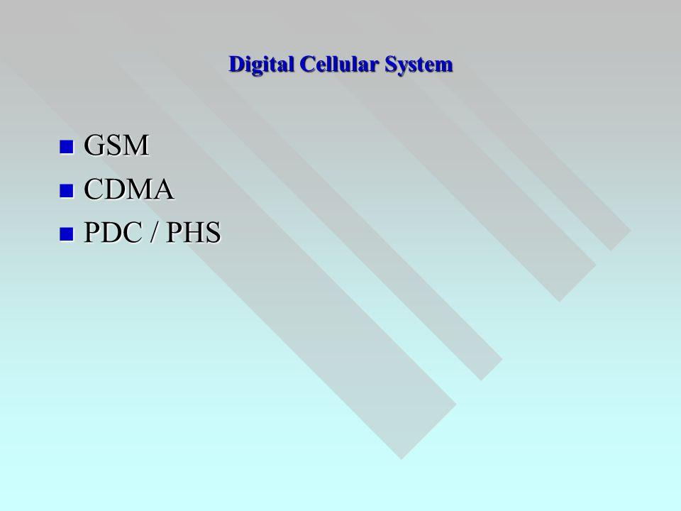 Digital Cellular System