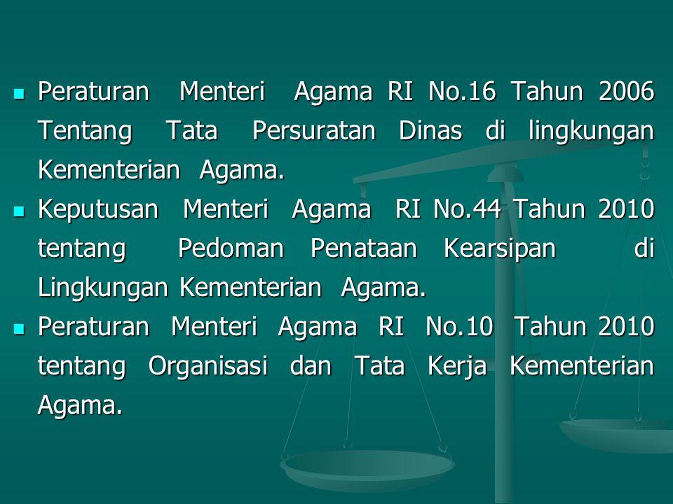 Peraturan Menteri Agama RI No