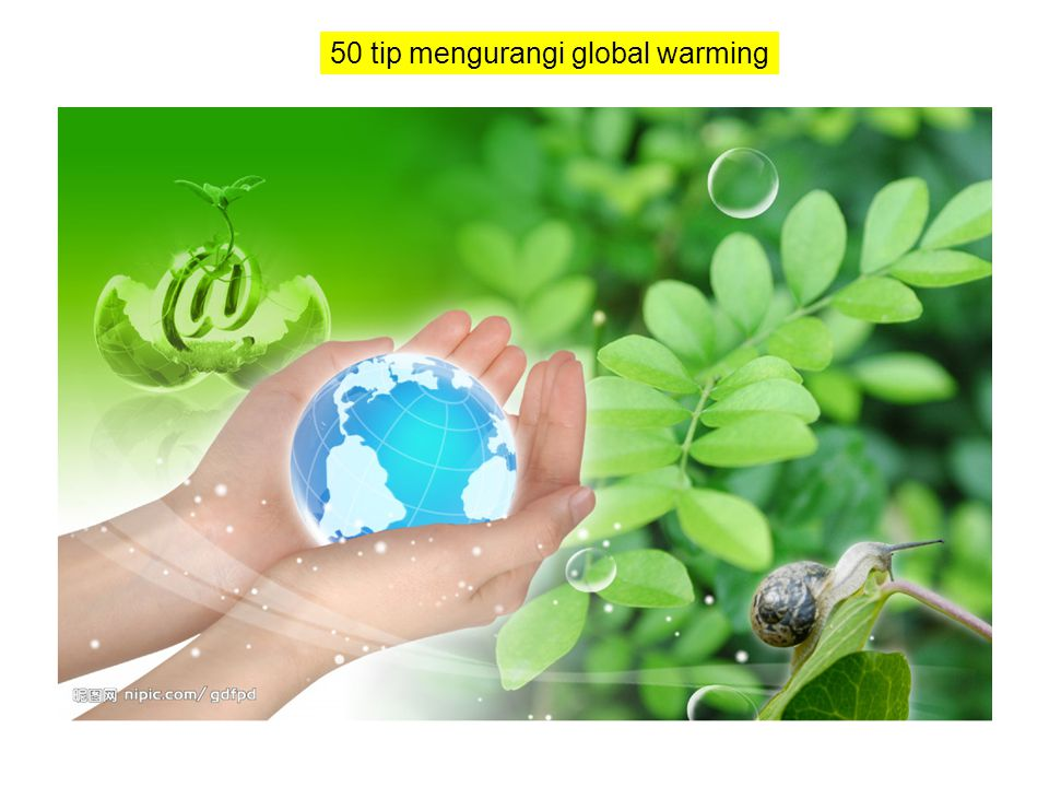 50 tip mengurangi global warming