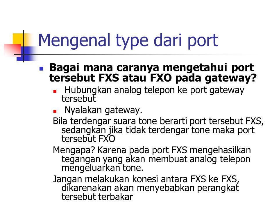 Mengenal type dari port