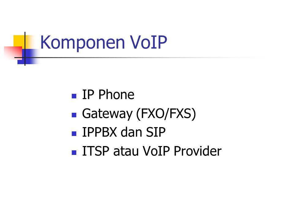 Komponen VoIP IP Phone Gateway (FXO/FXS) IPPBX dan SIP