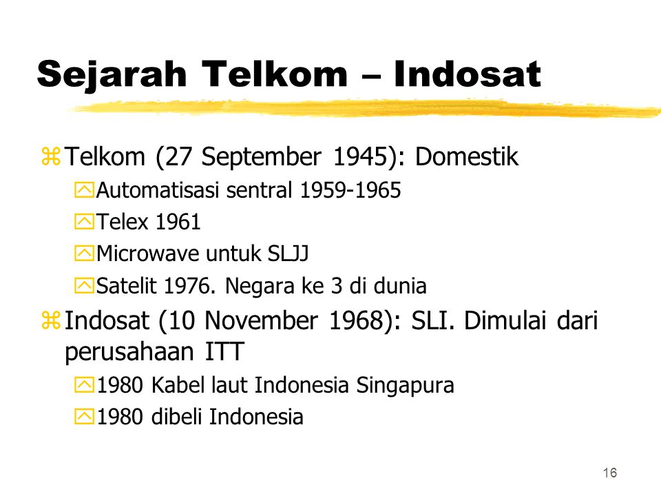 Sejarah Telkom – Indosat
