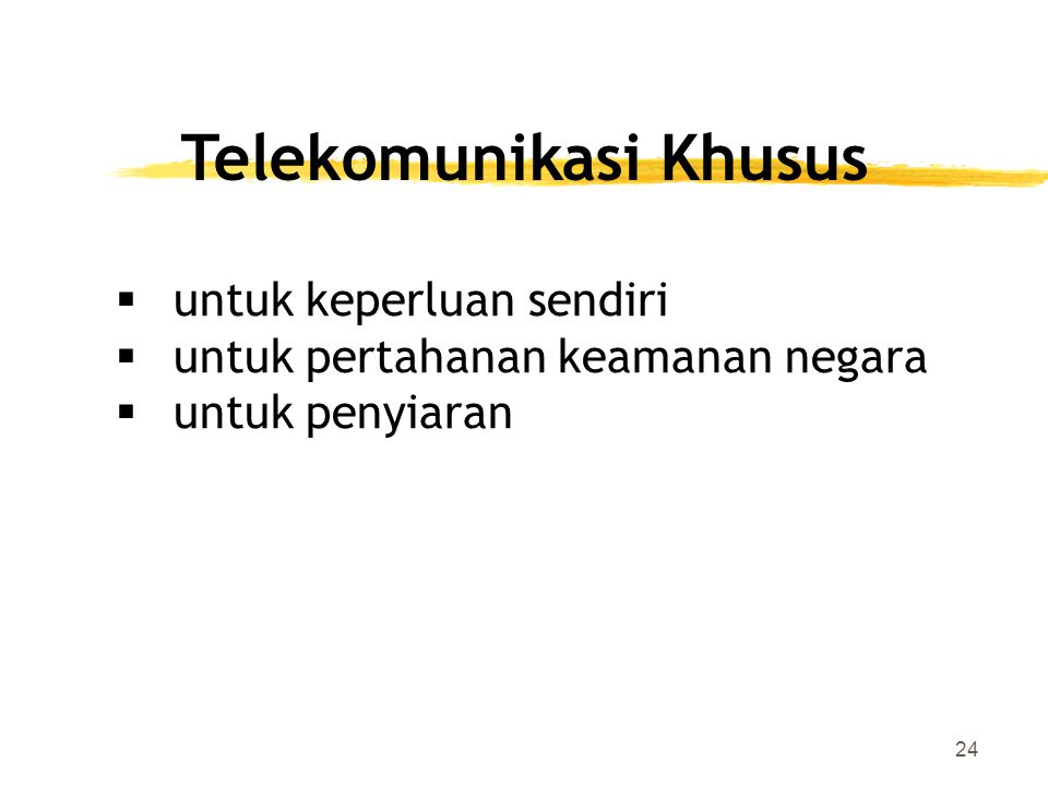 Telekomunikasi Khusus
