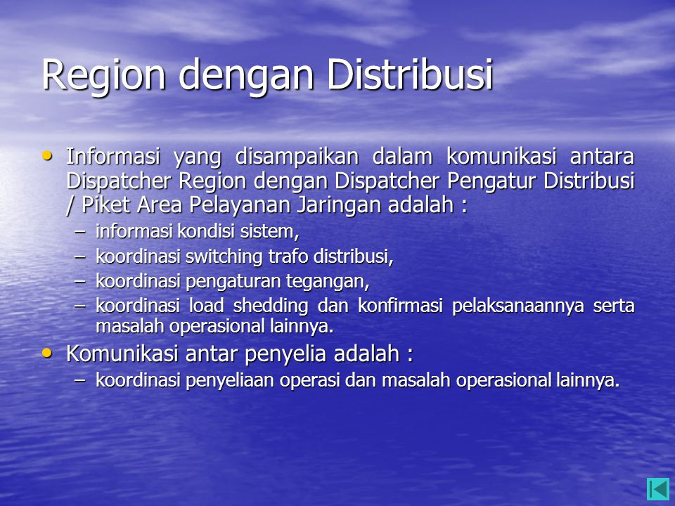Region dengan Distribusi