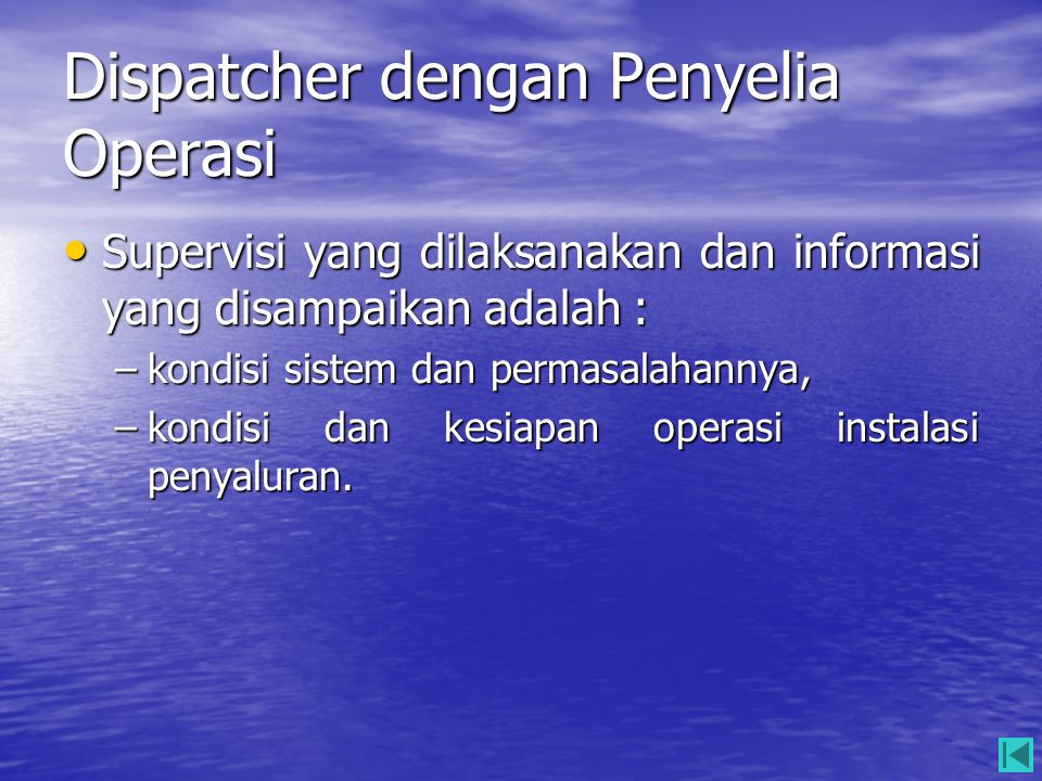 Dispatcher dengan Penyelia Operasi