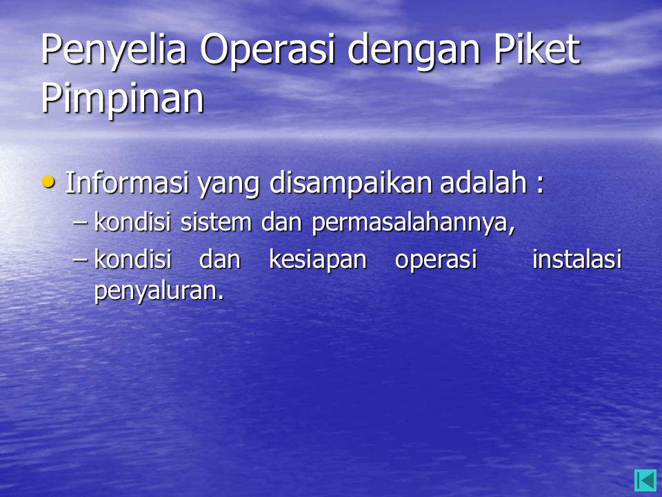 Penyelia Operasi dengan Piket Pimpinan