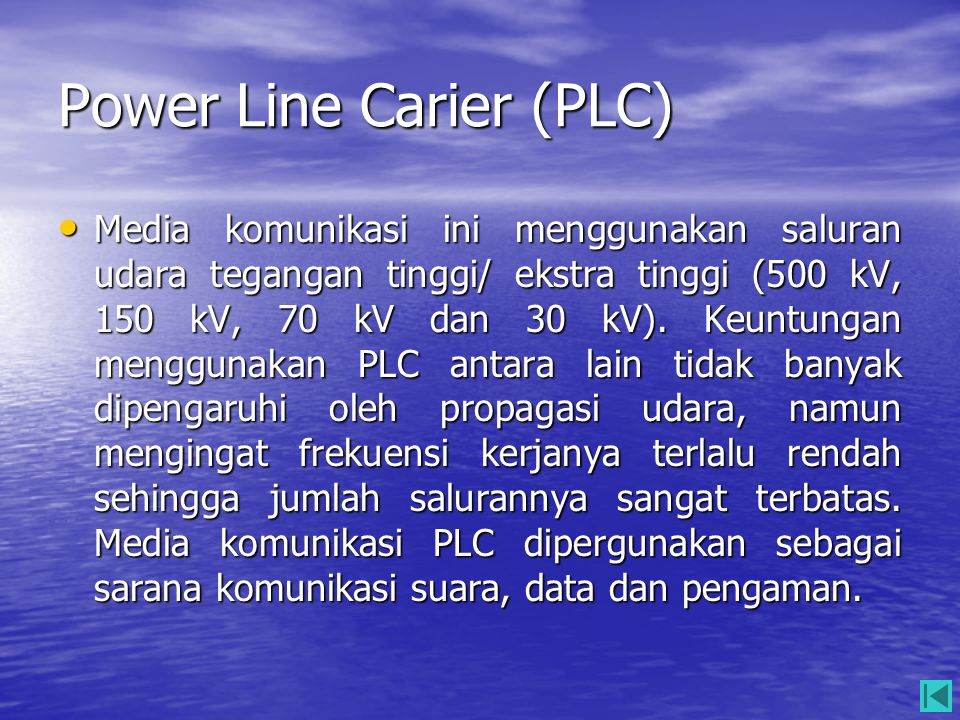 Power Line Carier (PLC)