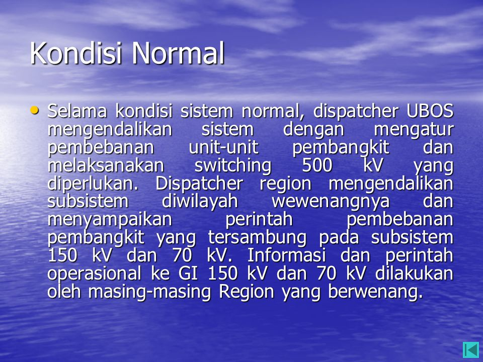 Kondisi Normal