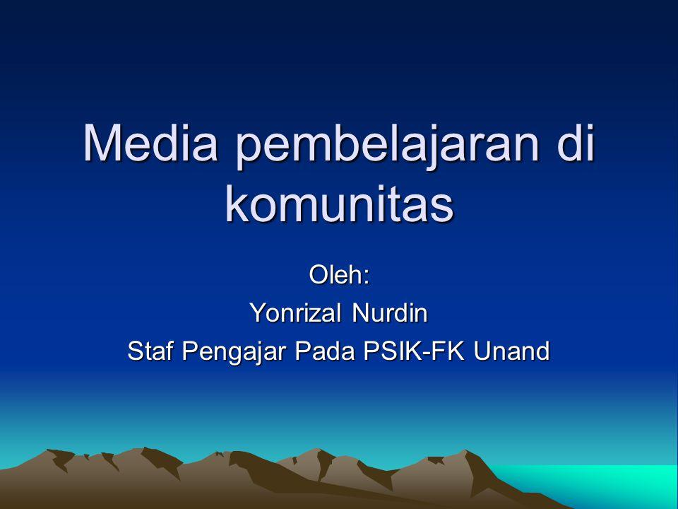 Media pembelajaran di komunitas