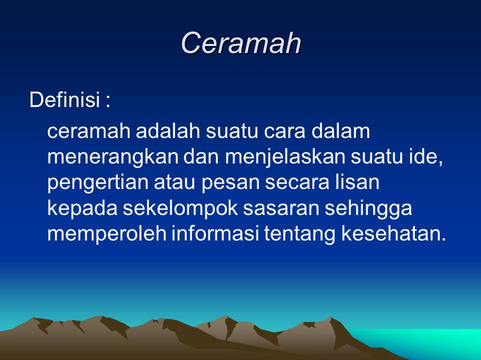 Ceramah Definisi :