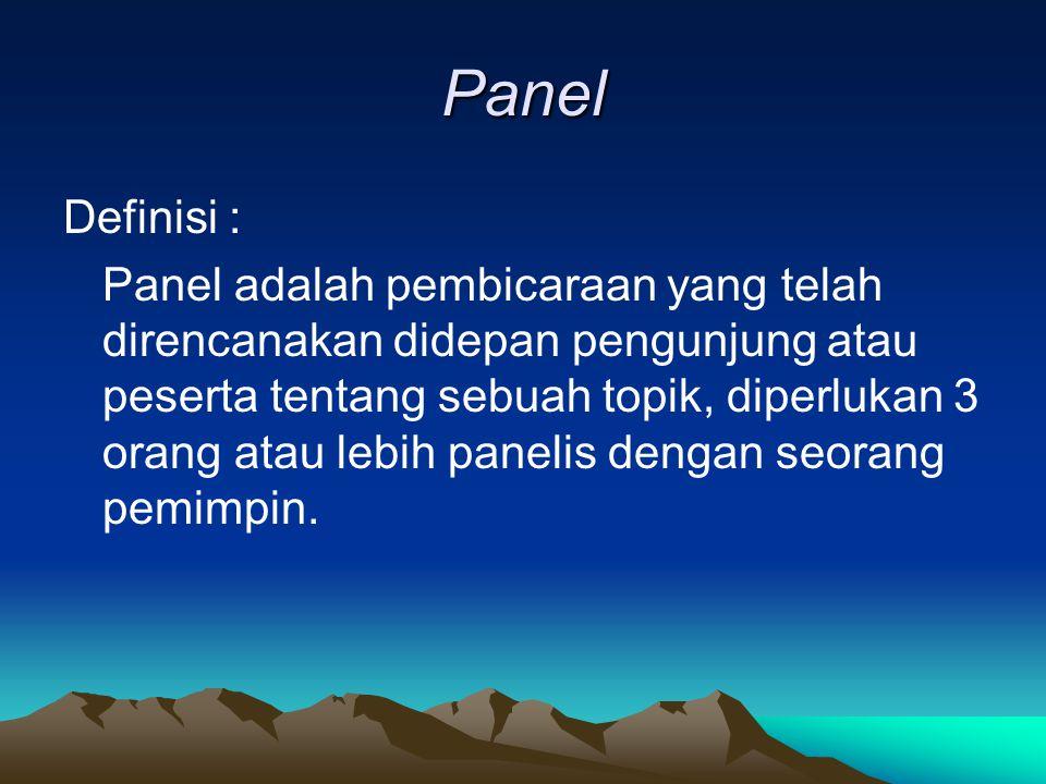 Panel Definisi :