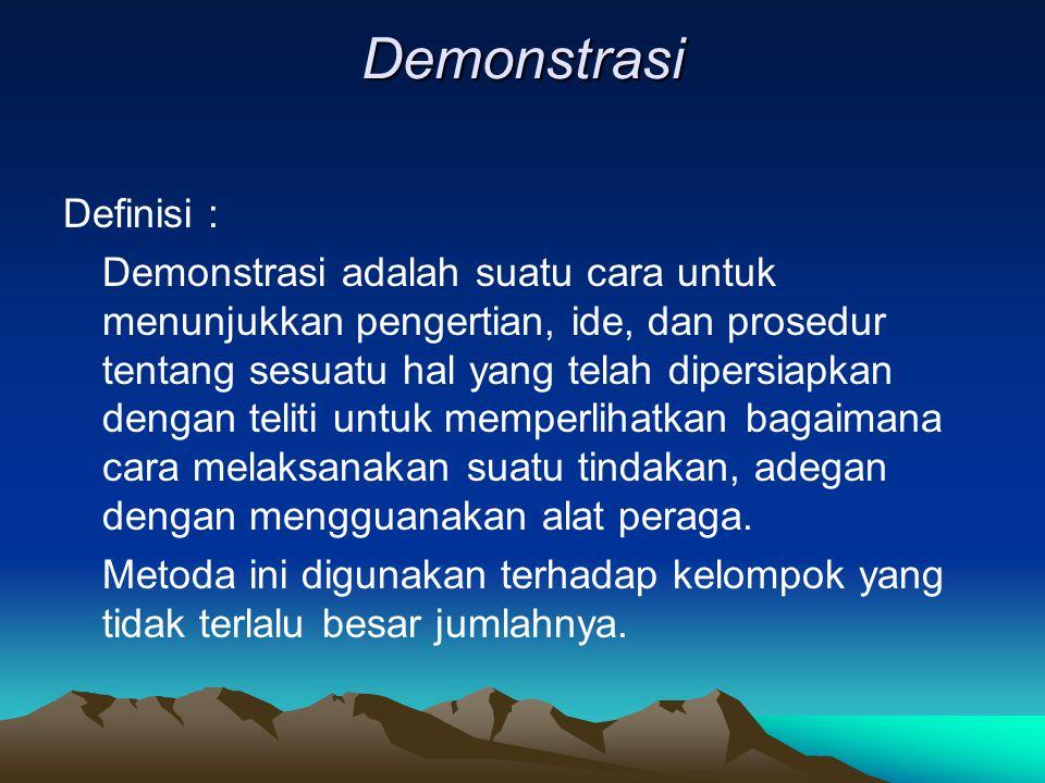Demonstrasi Definisi :