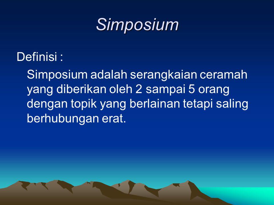 Simposium Definisi :