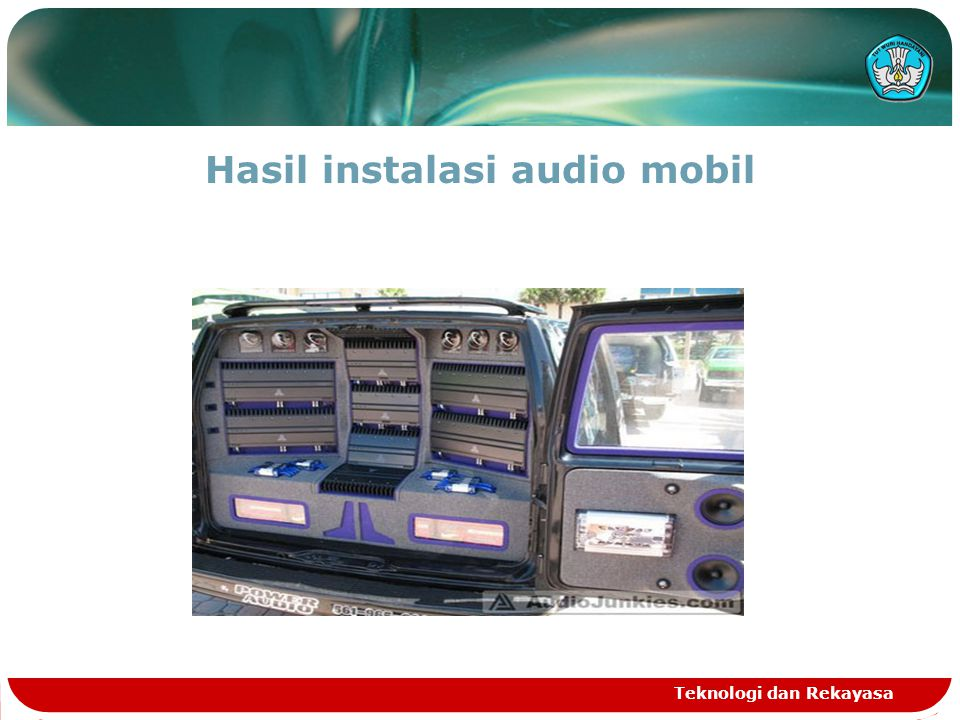 Hasil instalasi audio mobil