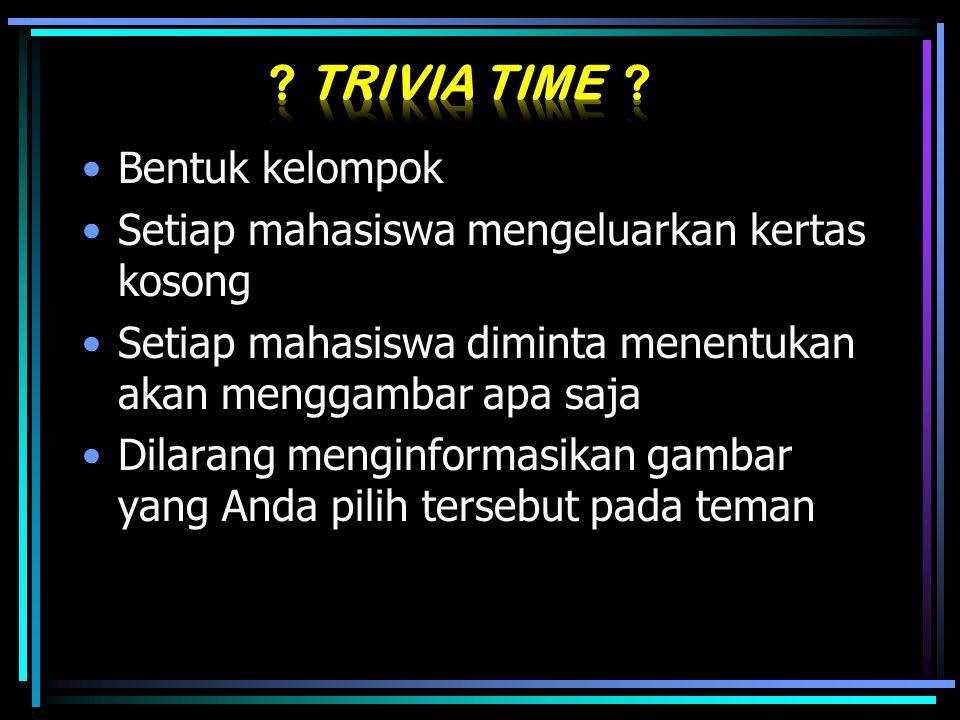 Trivia Time Bentuk kelompok