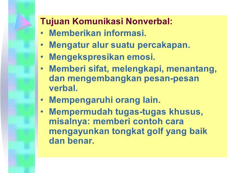 Tujuan Komunikasi Nonverbal: