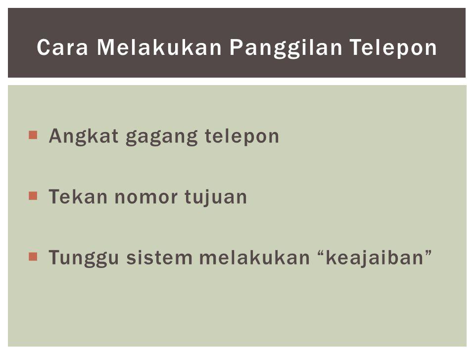 Cara Melakukan Panggilan Telepon
