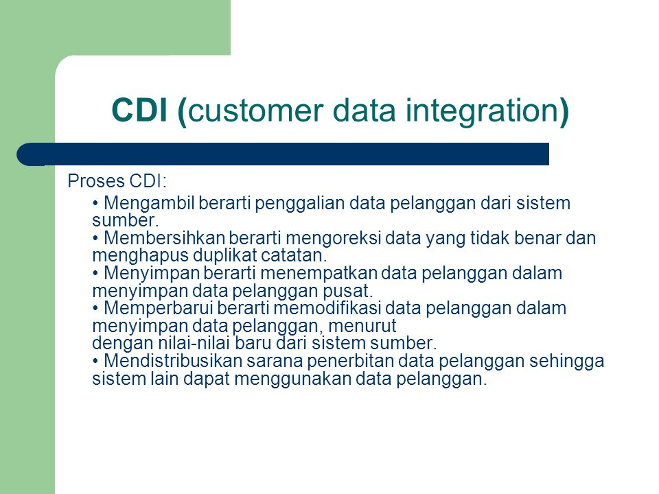 CDI (customer data integration)