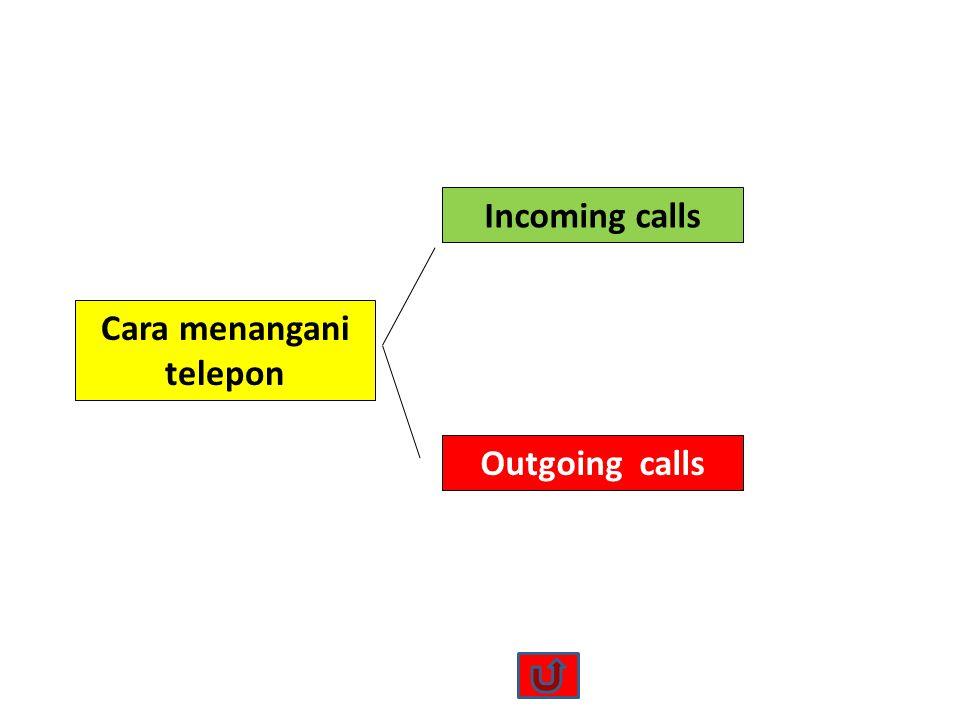 Cara menangani telepon