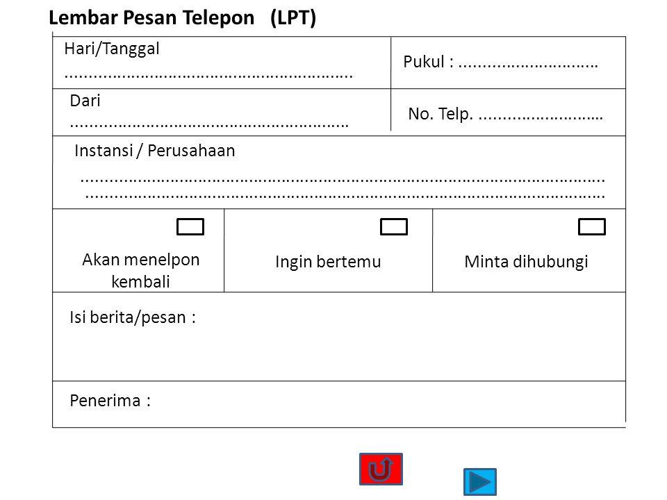 Lembar Pesan Telepon (LPT)
