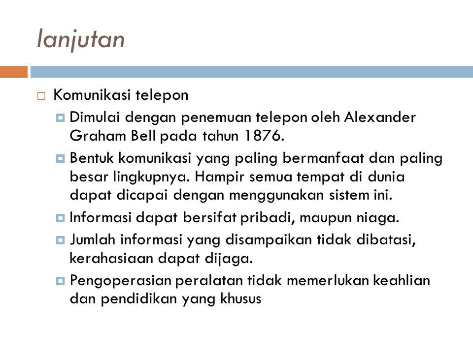 lanjutan Komunikasi telepon