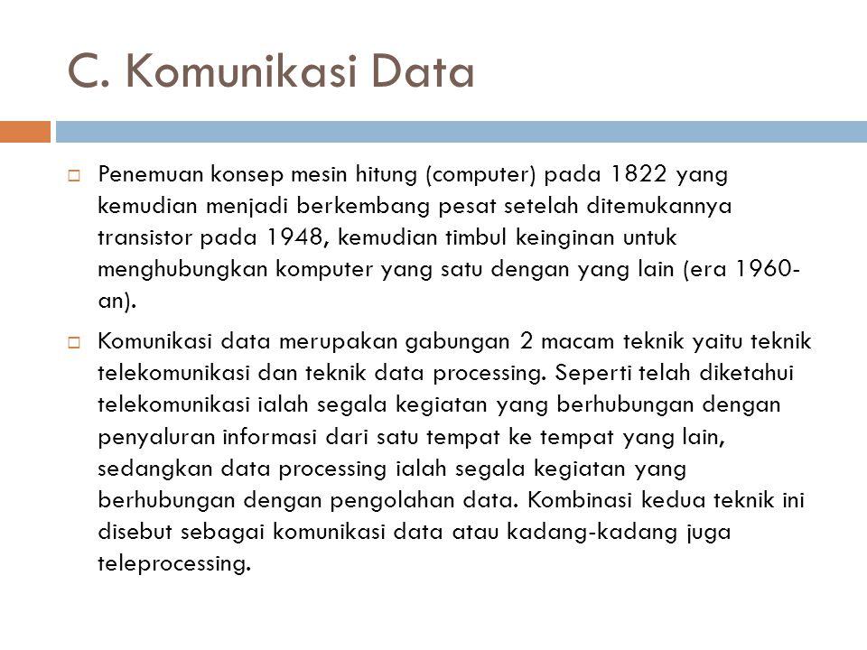 C. Komunikasi Data