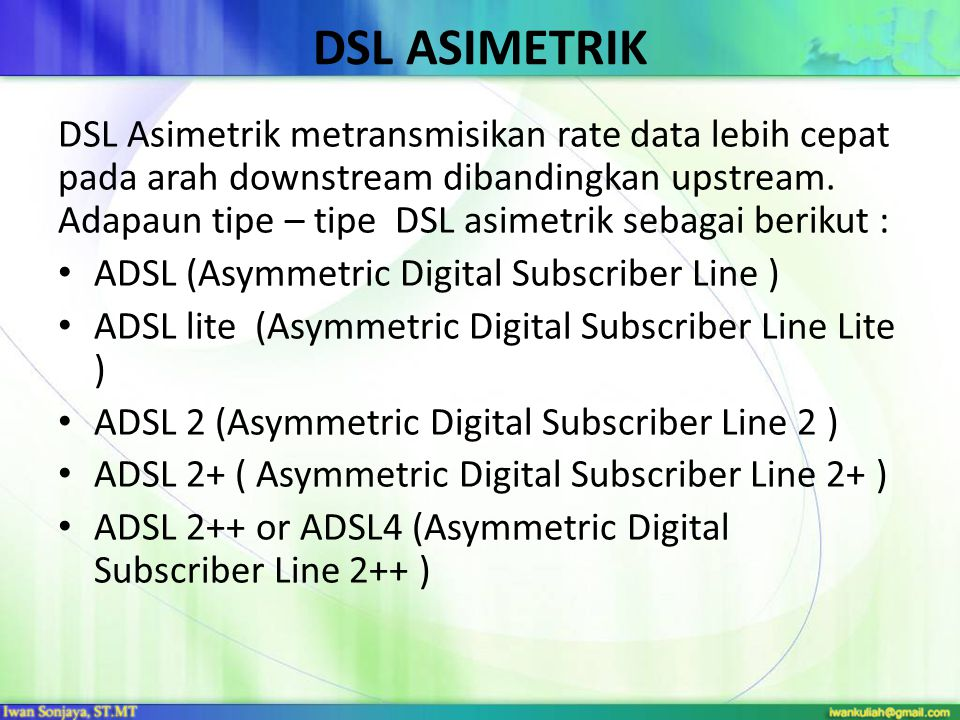 DSL ASIMETRIK