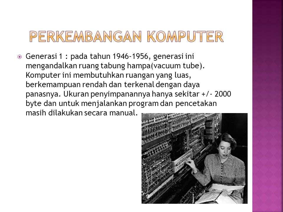 Perkembangan Komputer