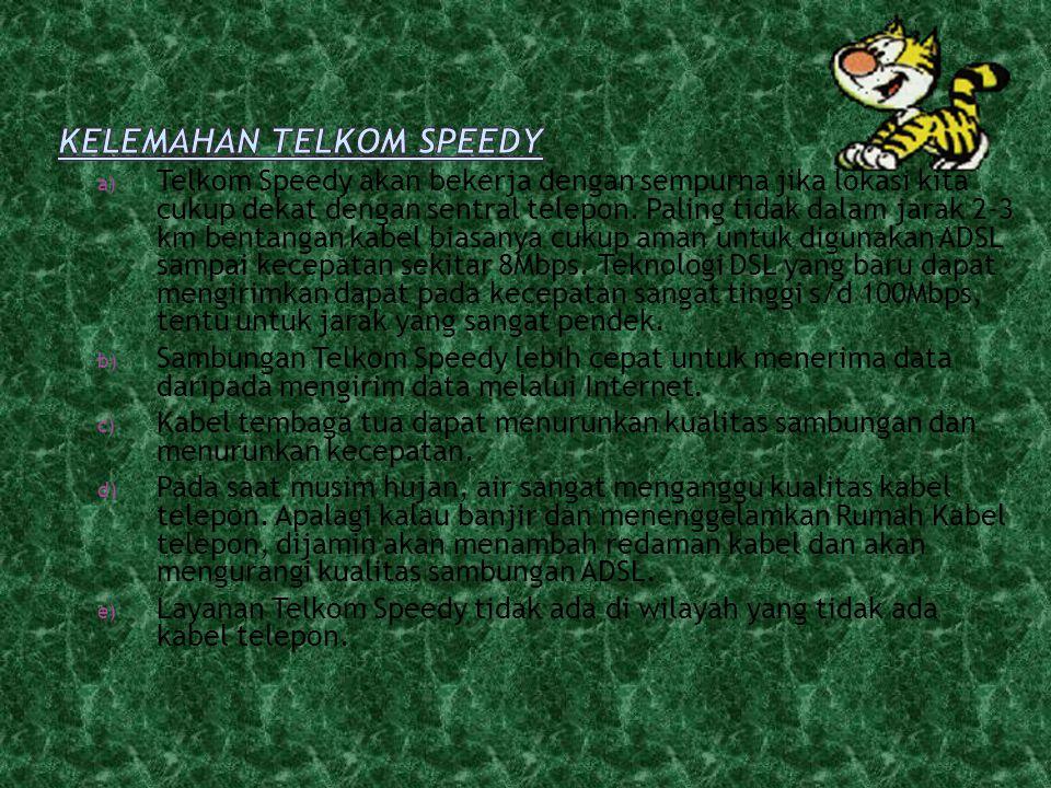 Kelemahan Telkom Speedy