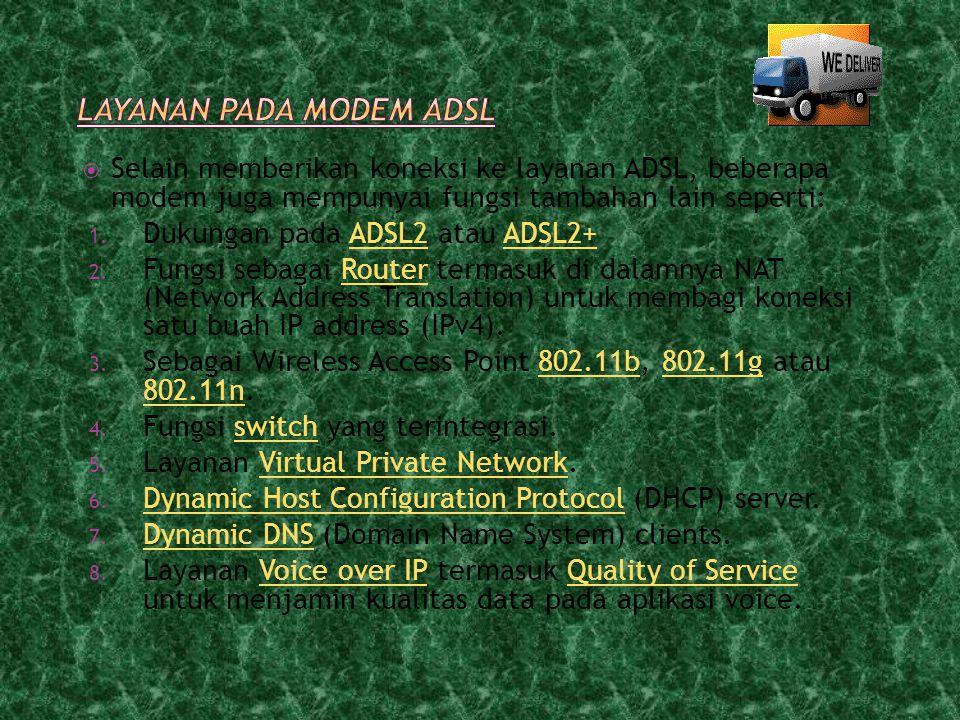 Layanan pada modem ADSL