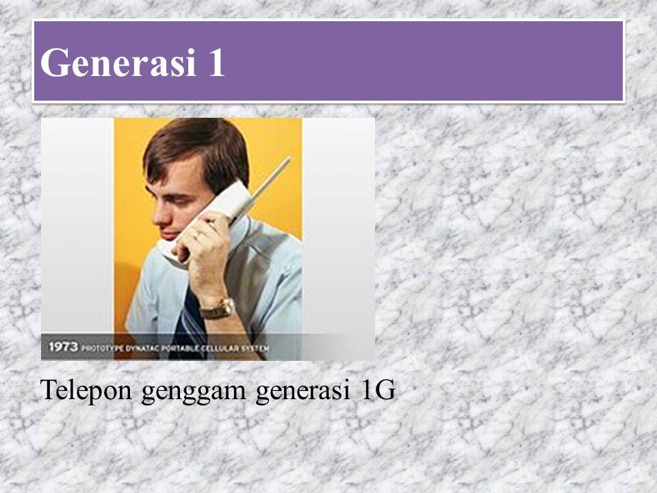 Generasi 1 Telepon genggam generasi 1G