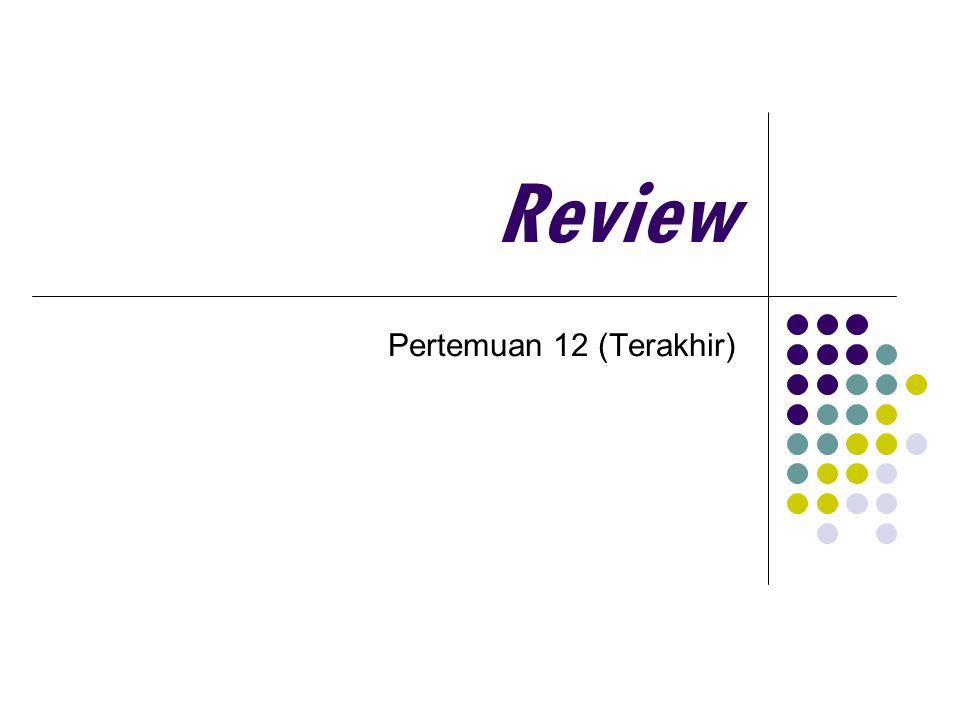 Review Pertemuan 12 (Terakhir)