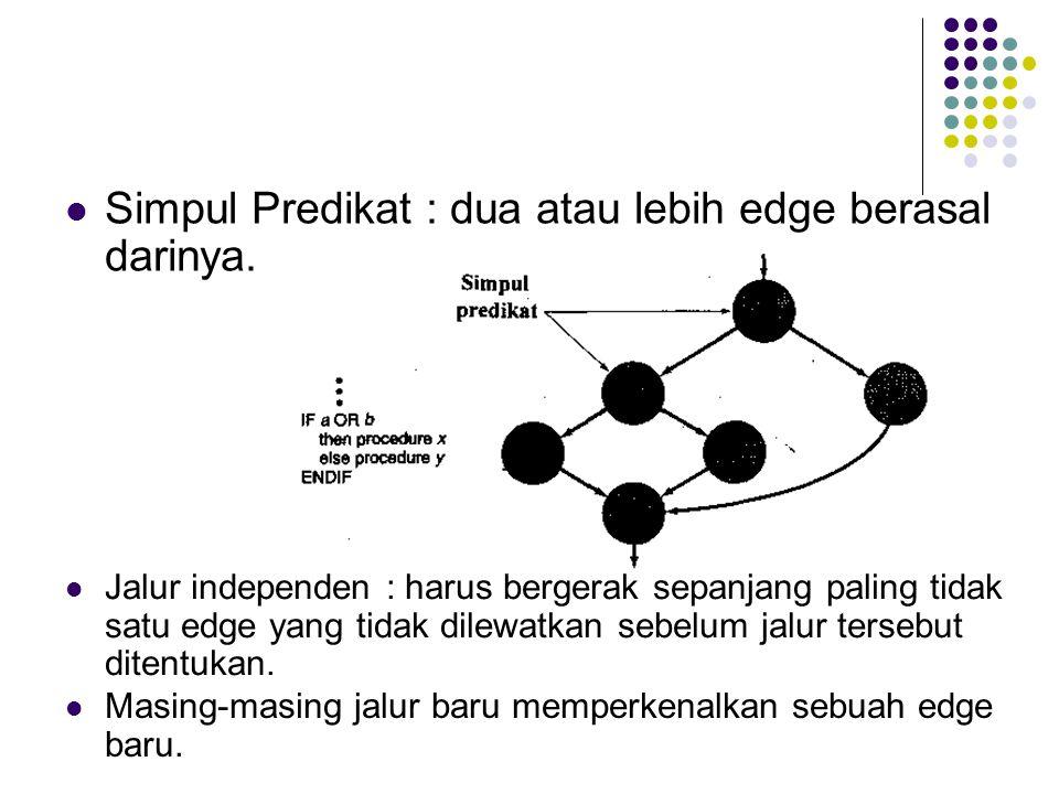 Simpul Predikat : dua atau lebih edge berasal darinya.