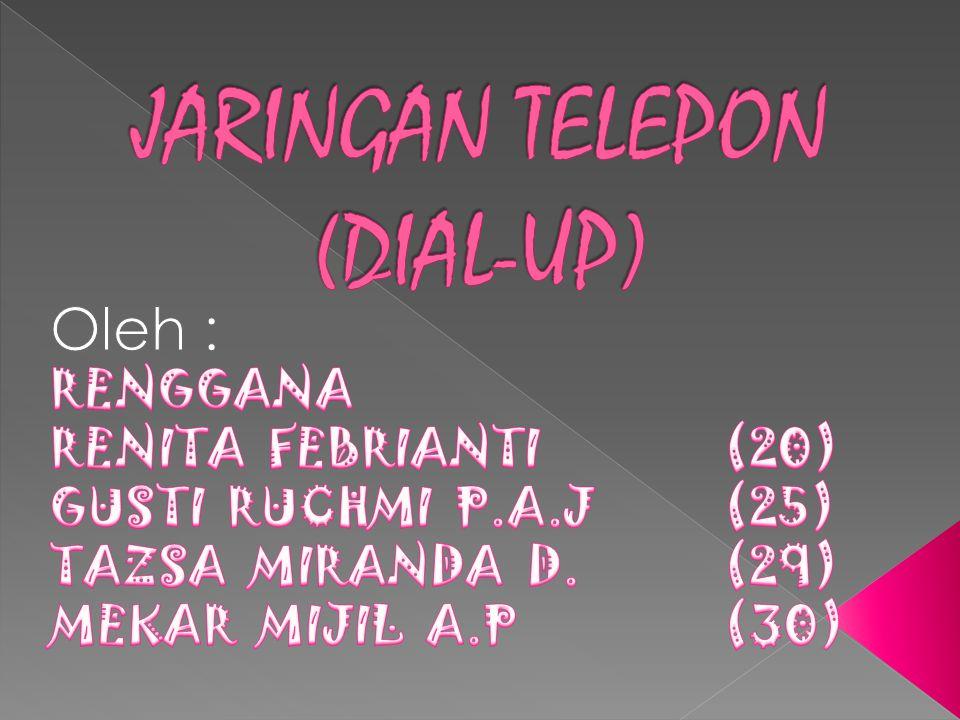 JARINGAN TELEPON (DIAL-UP)