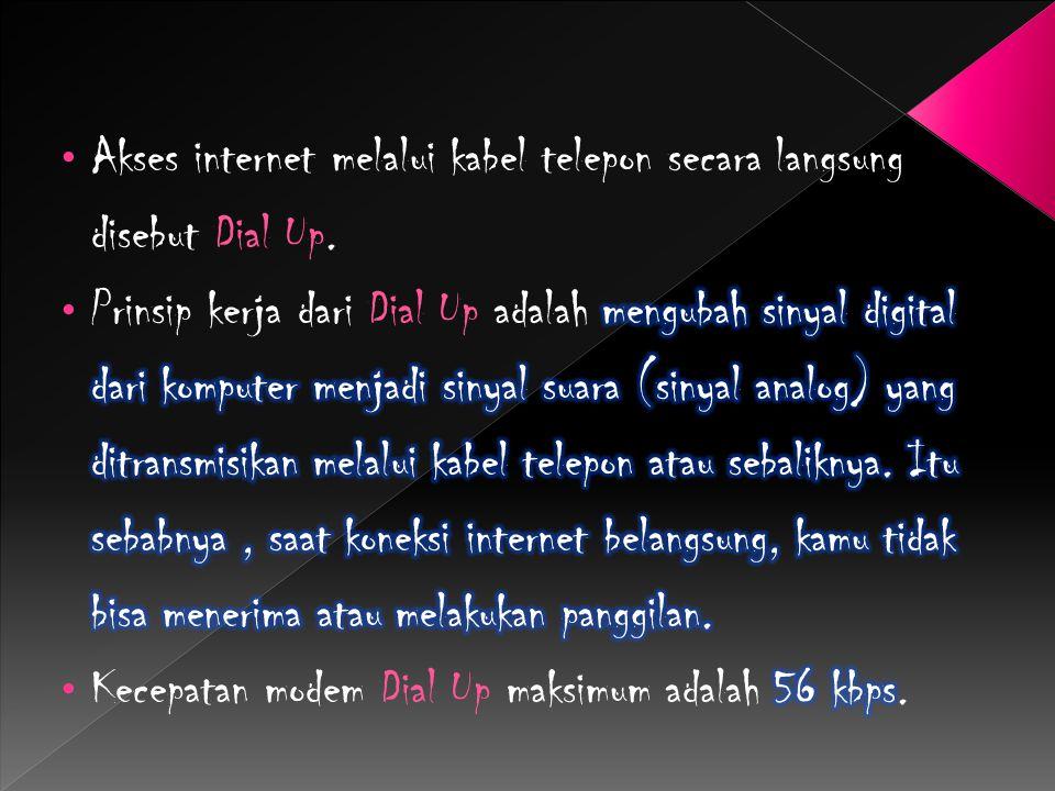 Akses internet melalui kabel telepon secara langsung