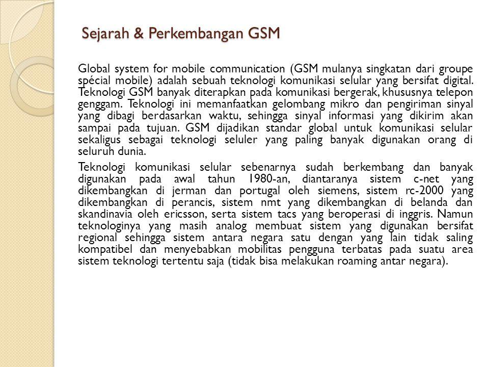Sejarah & Perkembangan GSM
