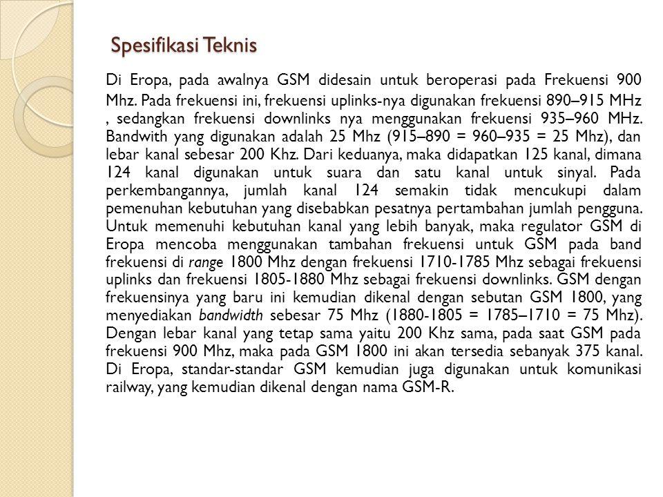 Spesifikasi Teknis