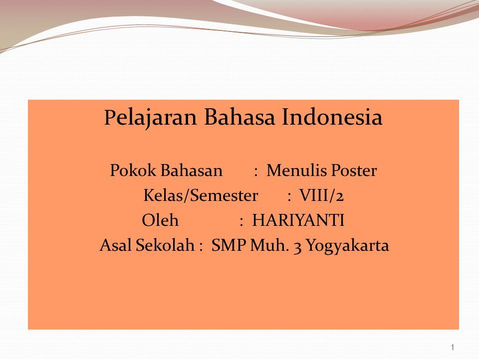 Pelajaran Bahasa Indonesia